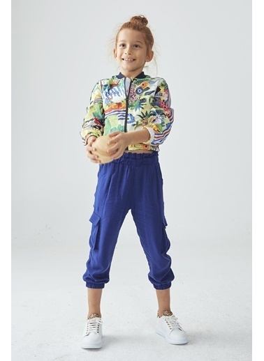Tyess Kız Çocuk Saks Pantolon  Saks